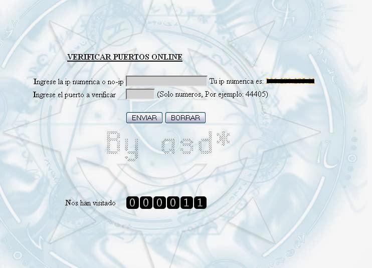 Interfaz del verificador de puertos