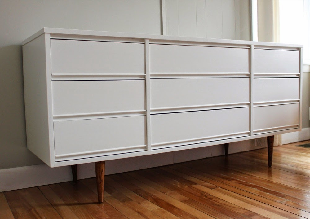 White Mcm Dresser Credenza Sold Redesigned Mid Century