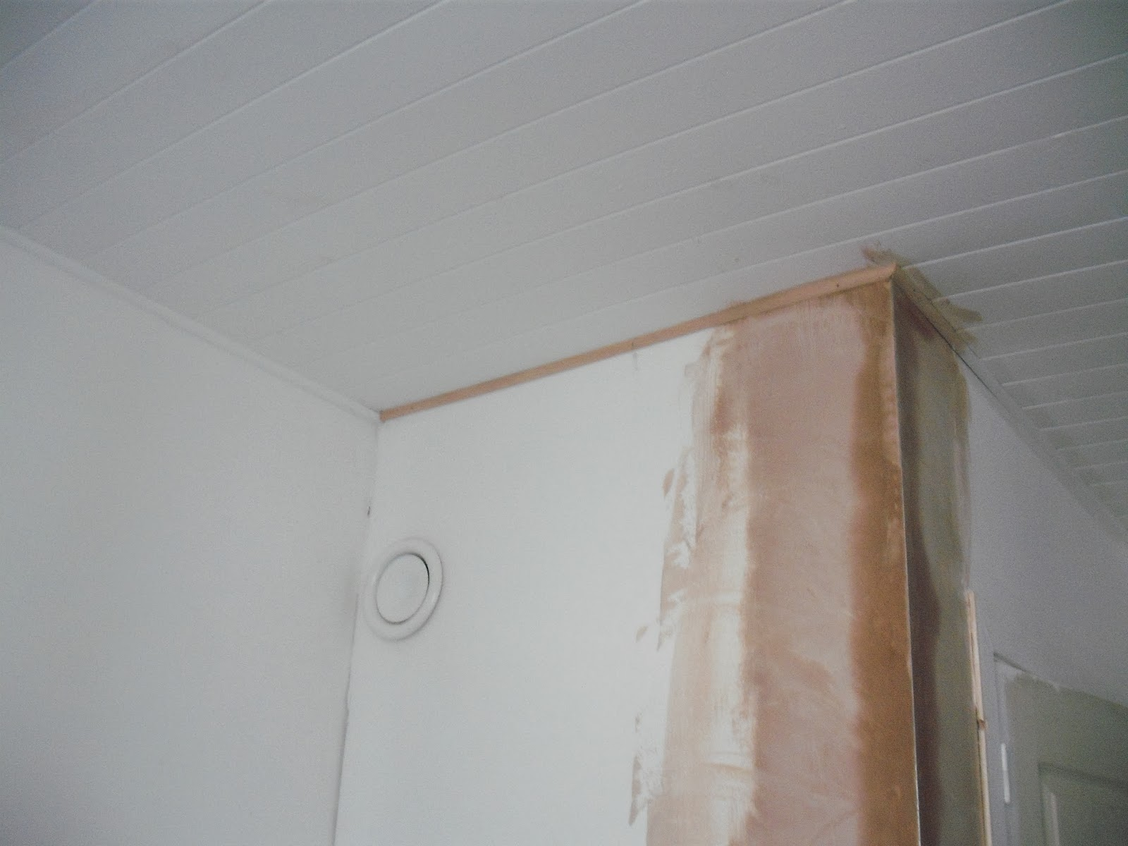 finishing off dry lining plaster in france