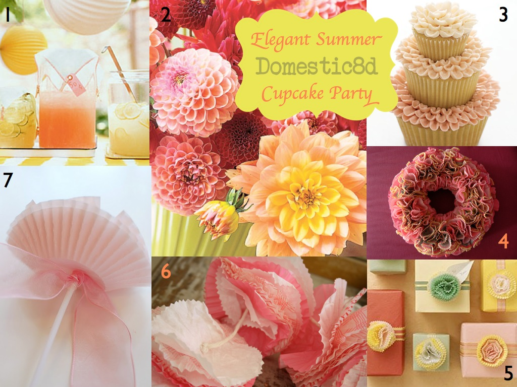 Domestic8d: IMBM: Elegant Summer Cupcake Party