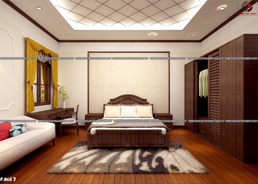 Mẫu thiết kế biệt thự nhà vườn 1 tầng đẹp hiện đại dt 150m2 Phong-ngu-1
