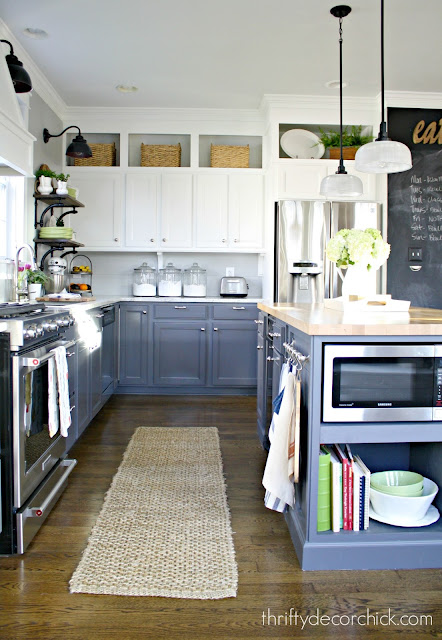 How to fill space above cabinets