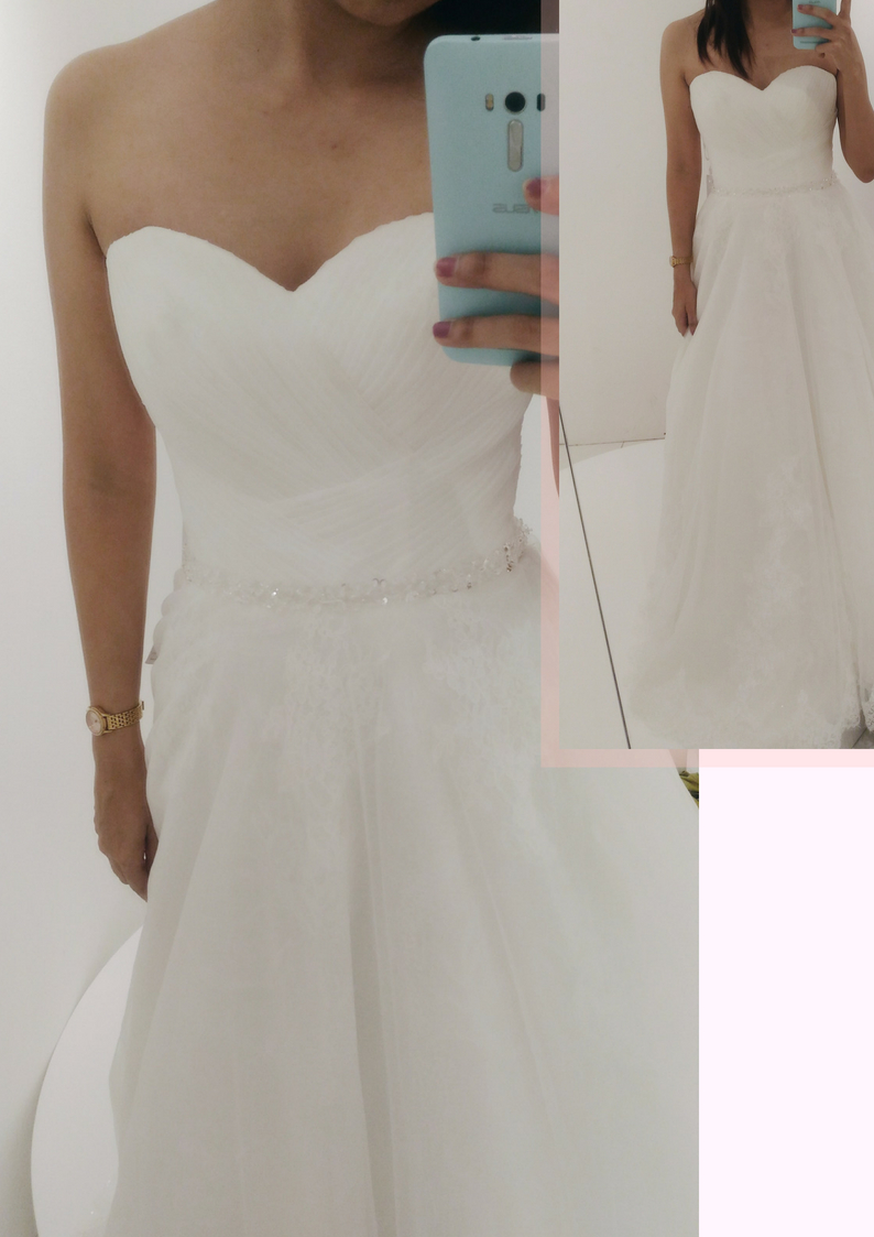 Landmark Wedding Gown Ivory and Lace