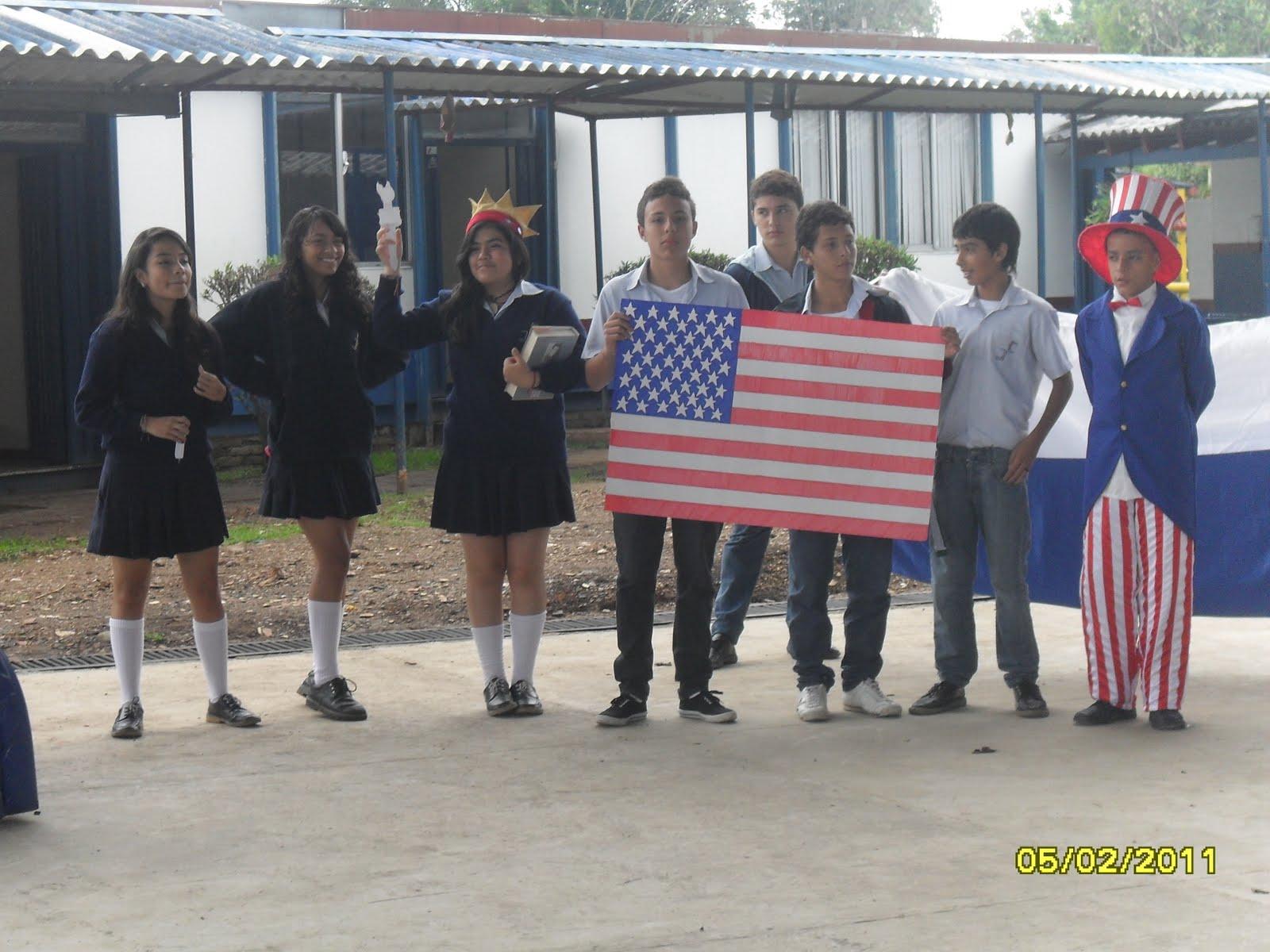 colegio colombo franc u00c9s  izada de bandera
