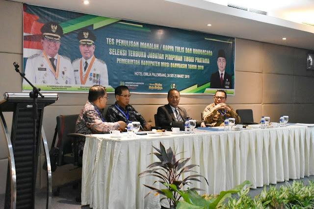 22 Peserta Seleksi Jabatan Pimpinan Tinggi Pratama Berkompetisi Untuk 5 Kursi Kepala Dinas Di Kabupaten Muba