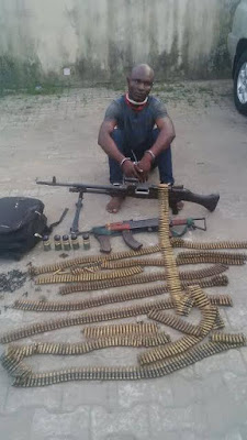 Nigeria Police intercept heavily kidnappers on their way for operation today.