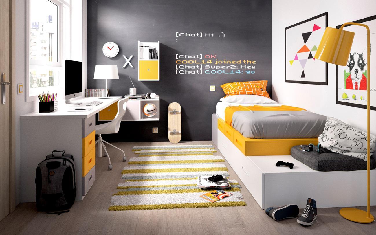 20 dormitorios juveniles para varones m s chicos - Habitaciones juveniles para chico ...