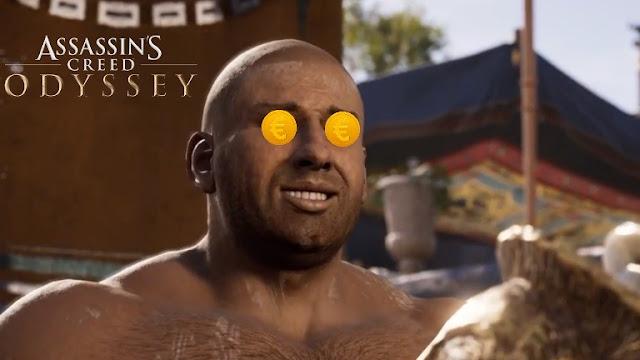 شاهد بالفيديو كيف سخرت لعبة Assassin's Creed Odyssey بشركة EA من خلال نظام المشتريات عبر طريقة ذكية جدا ..