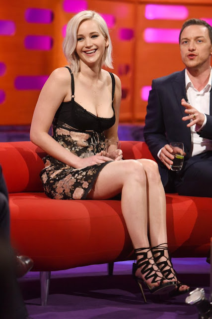 Jennifer Lawrence on the Graham Norton Show in London