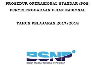 POS Penyelenggaraan Ujian Nasional TP 2017/2018