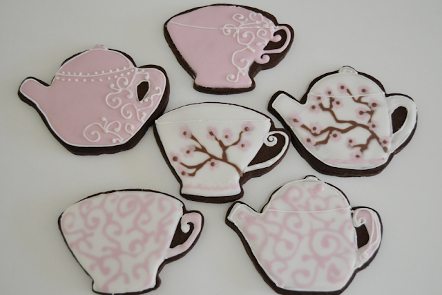 galletas de té decoradas con glasa