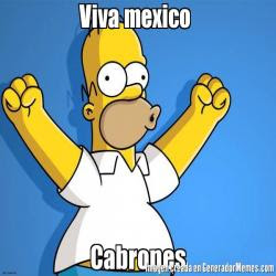 Homer Simpson con México