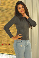 Actress Bhanu Tripathri Pos in Ripped Jeans at Iddari Madhya 18 Movie Pressmeet  0006.JPG