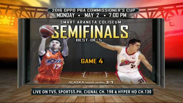 Meralco vs. Alaska: Semifinal Schedule, Results, TV and Live Stream Info (2016 PBA Commissioner's Cup)