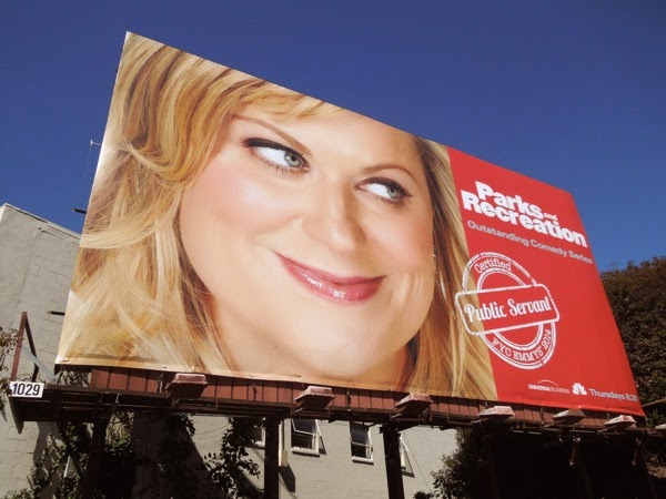 Amy Poehler Parks and Recreation 2014 Emmy billboard