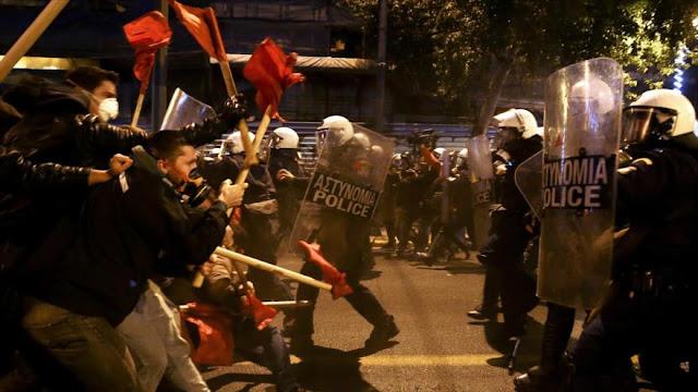 Violentas protestas contra la visita de Barack Obama a Atenas