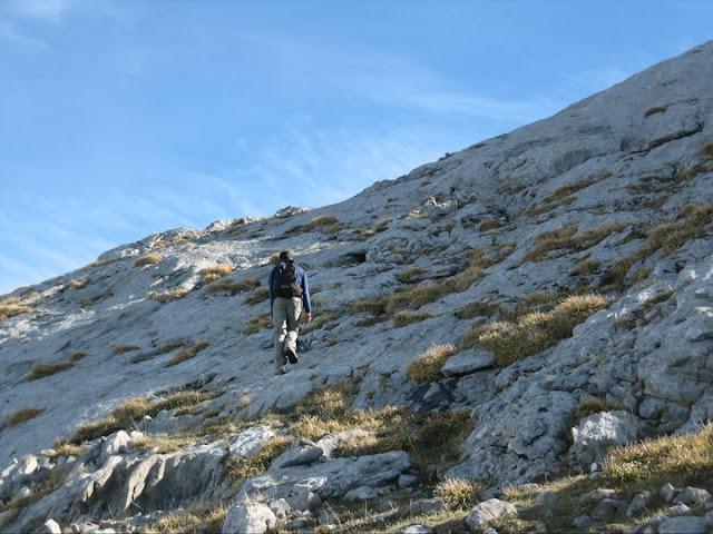 Camino a la cima del Cotalba