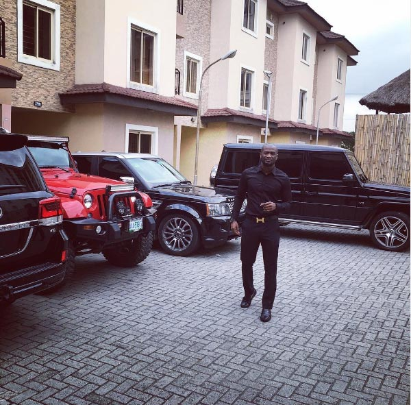What recession? Peter Okoye flaunts expensive rides