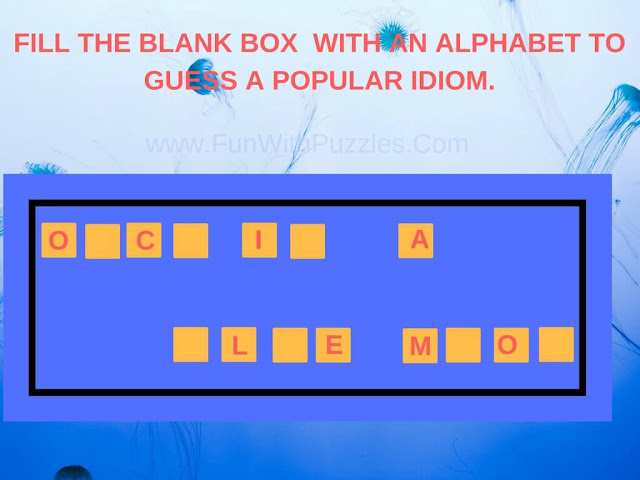English Idioms Fill In Puzzle-1