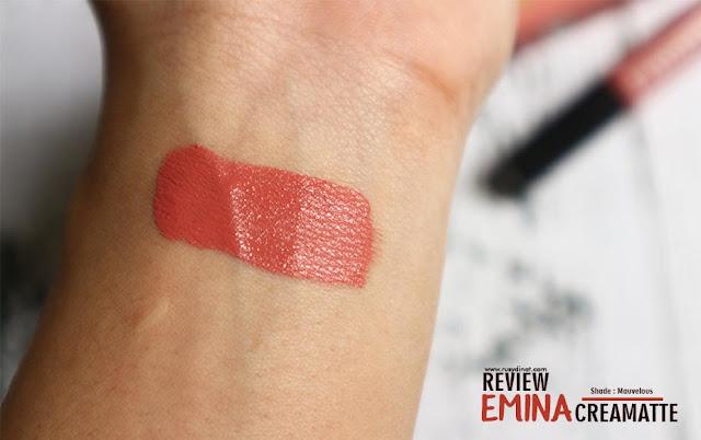 Review Emina Creamatte Shade Mauvelous