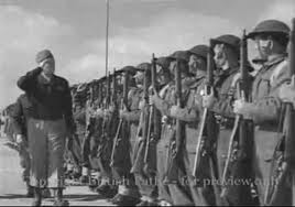 General Anders salutes soldiers of 2nd Polish Corps