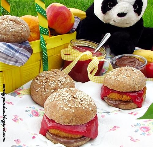 Burgery na słodko z 3 rodzajów substancji słodzących (bez cukru białego, laktozy, wegańskie)