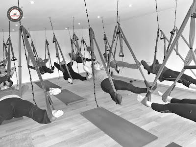 aerial wellness, aeroyoga, air yoga, hammock, trapeze, swing, yoga, pilates, fitness, gravity, fly, flying, coaching, body, anti, age, rafael martinez, gaelle devic