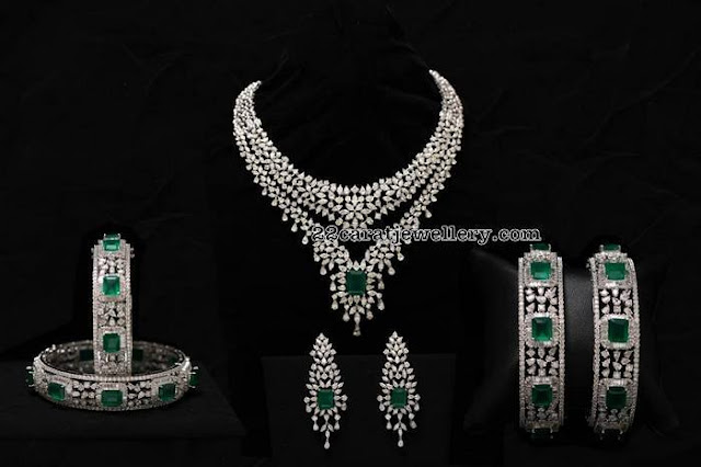Two Step Diamond Set and Bangles