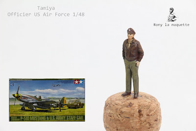 Figurine Tamiya Pilote 8th Air Force WWII  au 1/48