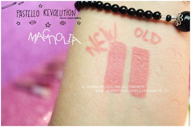 magnolia comparazioni BioPastello labbra Neve Cosmetics  pastello revolution