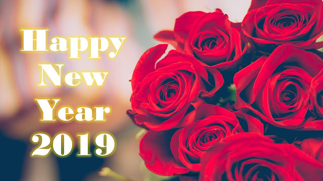 Happy New Year 2019 Flowers image