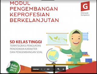 Modul PKB Guru Pembelajar SD Kelas Tinggi KK-G, https://bloggoeroe.blogspot.com/
