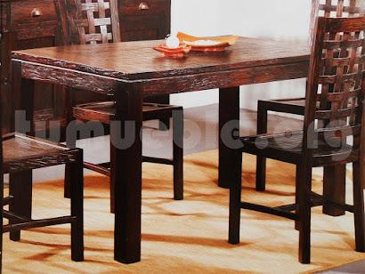 mesa comedor hecho en teca 4002/2