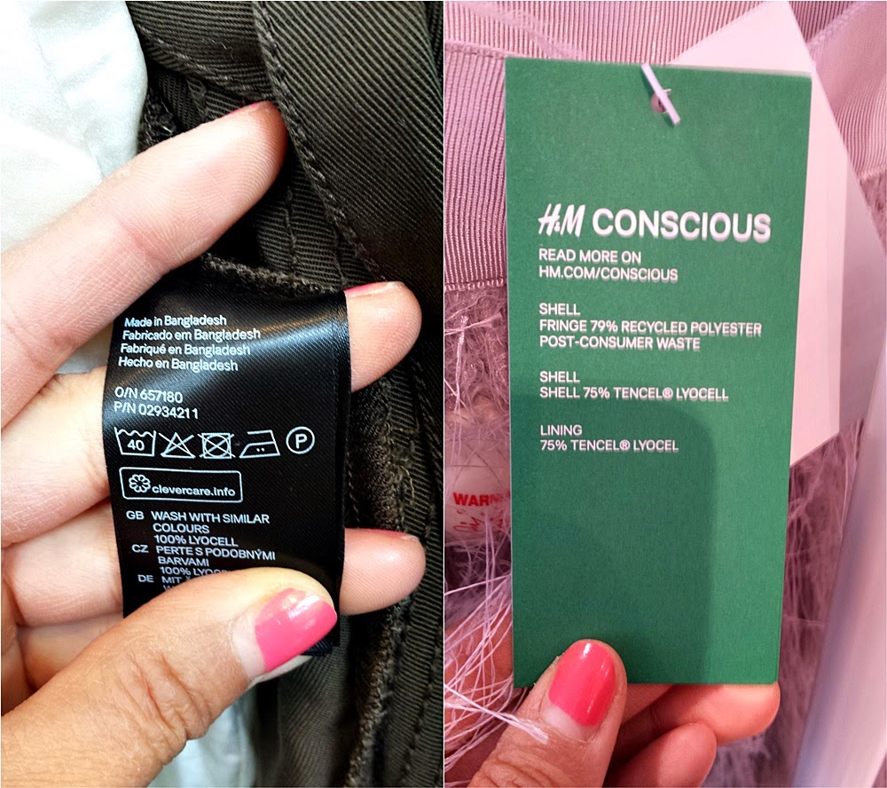 H&M Conscious Exclusive collection 2015 - label