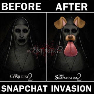 Foto Valak The Conjuring 2 Snapchat Invasion Edit Foto Lucu