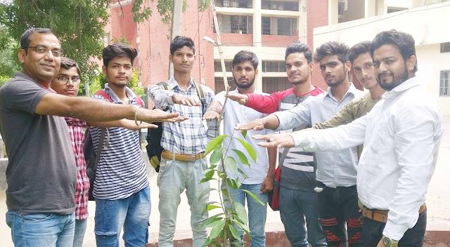 birthday-celebration-with-plantataion-nehru-college-faridabad
