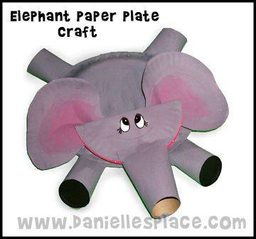 Ide membuat kerajinan berbentuk gajah menggunakan piring kertas dan kertas roll toilet untuk anak-anak