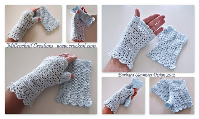 crochet patterns, how to crochet, mittens, lace, fingerless, edwardian,