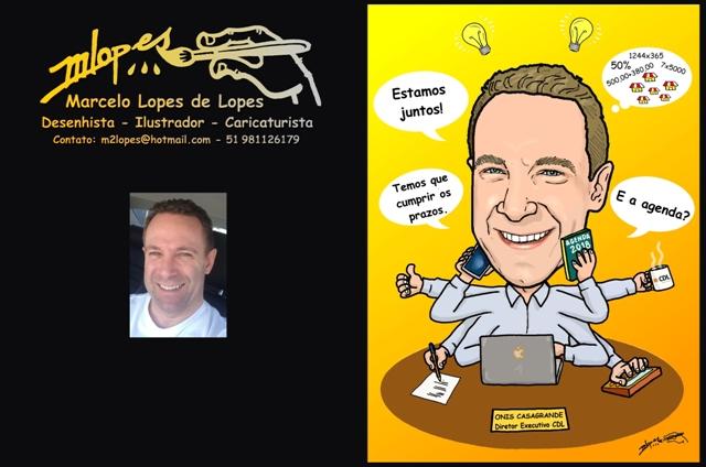 Desenhista Marcelo Lopes de Lopes atende pelo e-mail m2lopes@hotmail.com