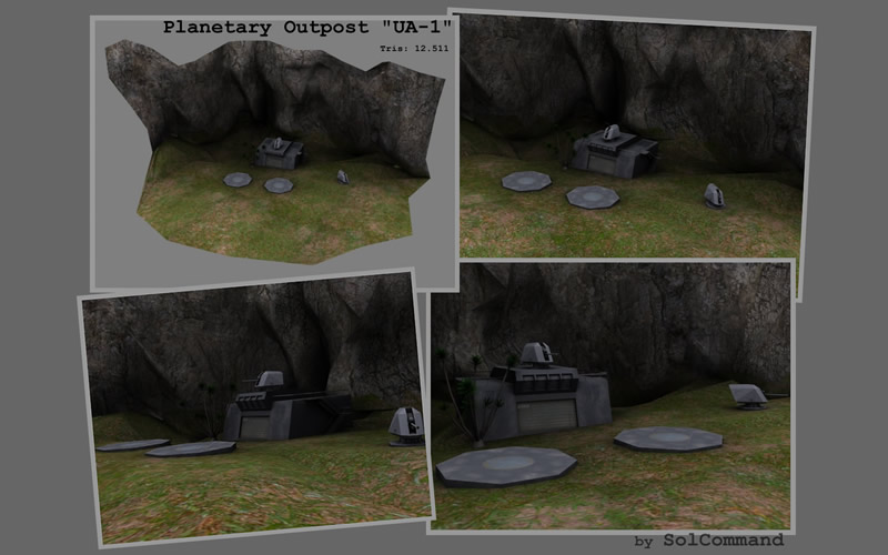 Planetary Outpost UA-1 3d model guerilla military outpost planetary base camp