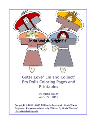 Gotta Love' Em and Collect' Em Dolls Free Coloring Pages <br>E-Book