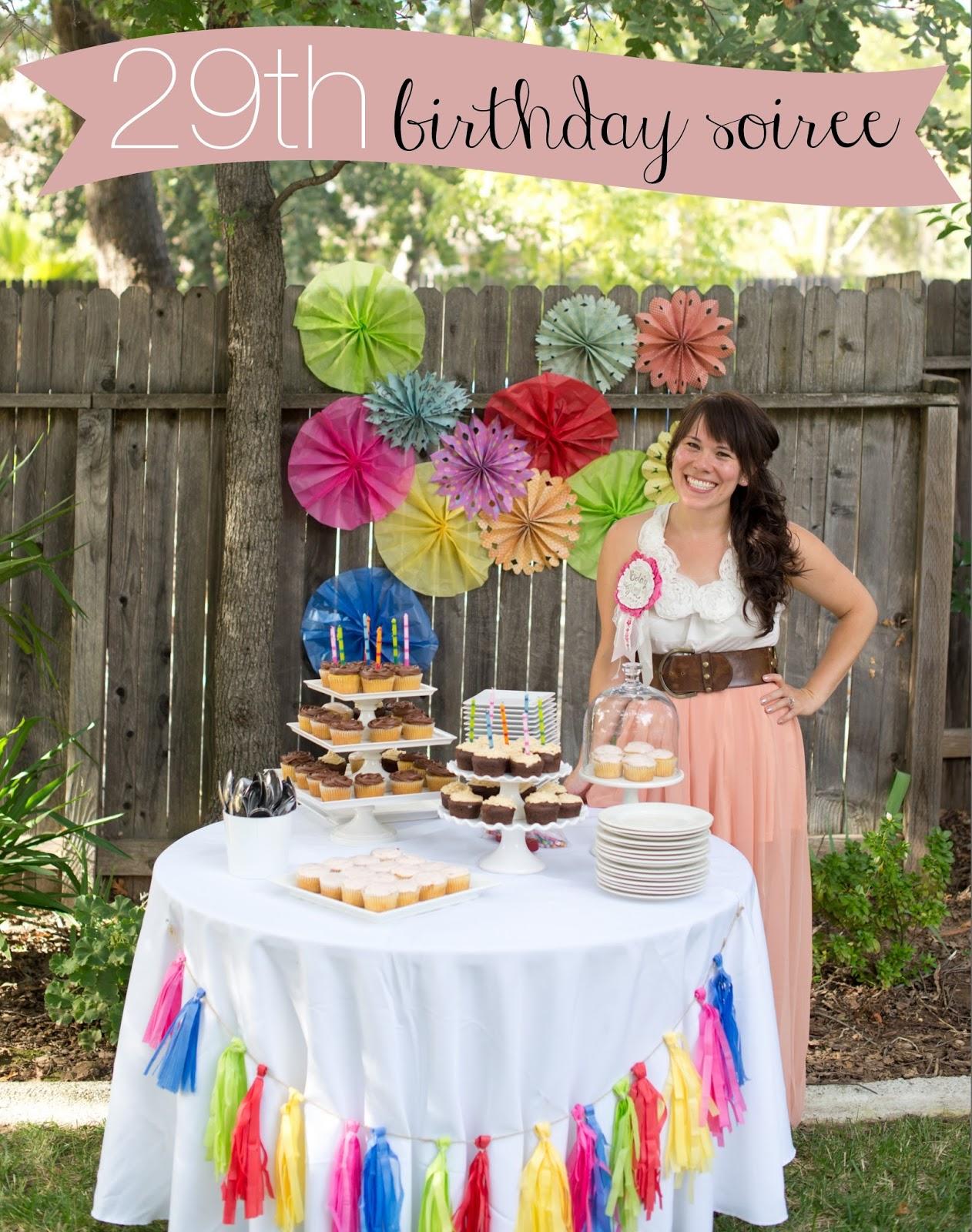 Domestic Fashionista: Colorful Backyard Birthday Soiree