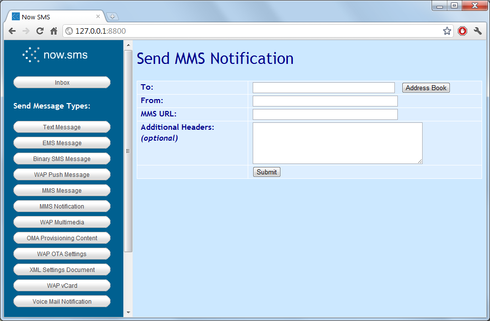 Software SMS Gateway NowSMS