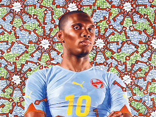 Etoo painting for PUMA Africa Campaign