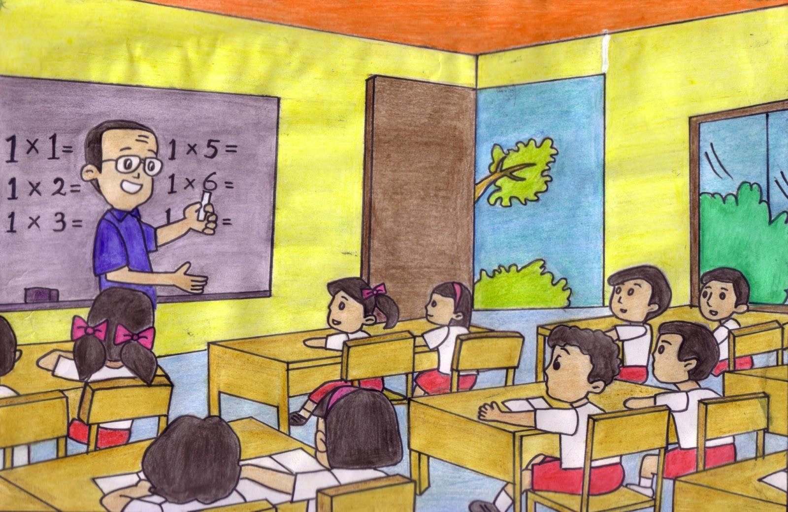 Kumpulan Gambar Kartun Bu Guru Sedang Mengajar Galeri Kartun