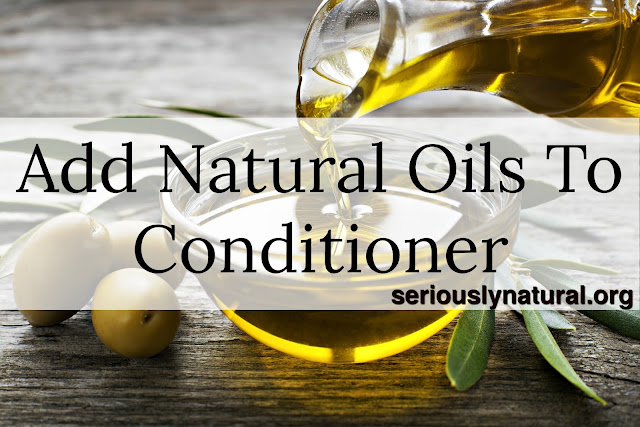 Click here to buy SHEAMOISTURE® 100% EXTRA VIRGIN COCONUT OIL  to add to your conditioner