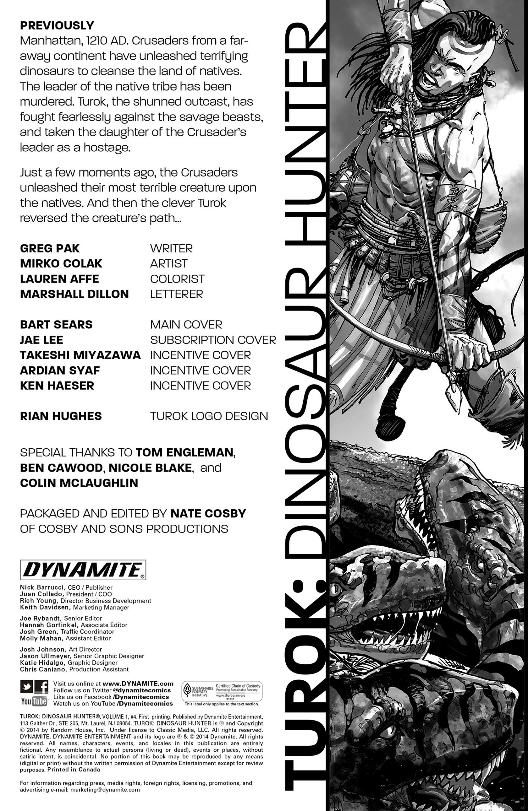 Read online Turok: Dinosaur Hunter (2014) comic -  Issue #4 - 2