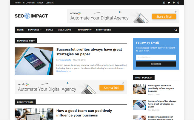 SEO Impact - Responsive Blogger Template