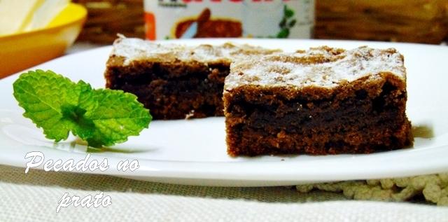 brownie de nutella super fácil