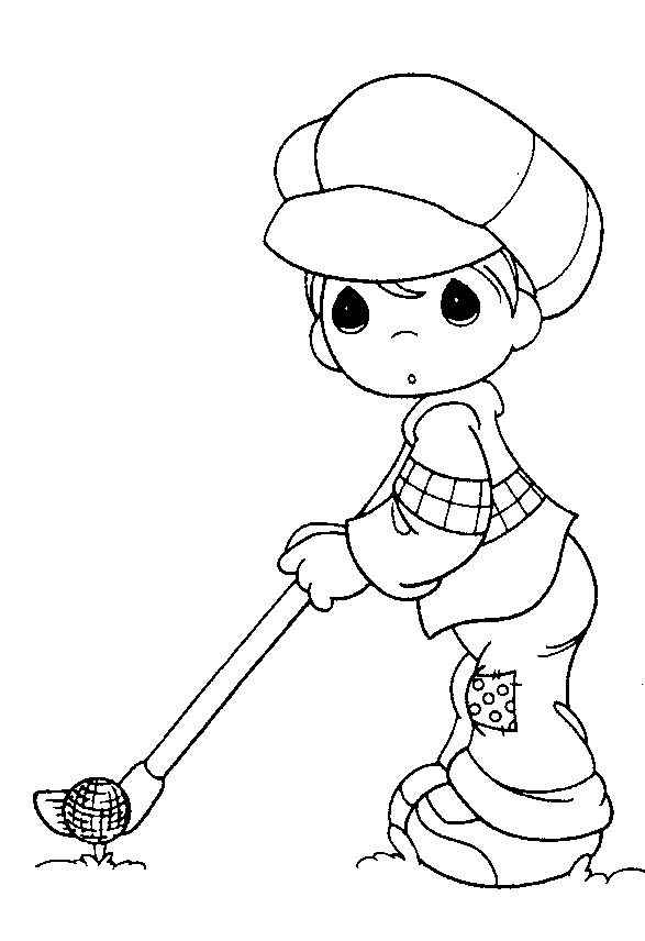 Coloring Pages For Girls: Golf printable coloring pages